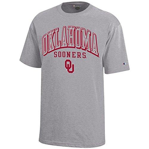 Champion NCAA Oklahoma Sooners Youth Boys Short sleeve Jersey T-Shirt, Small, Gray