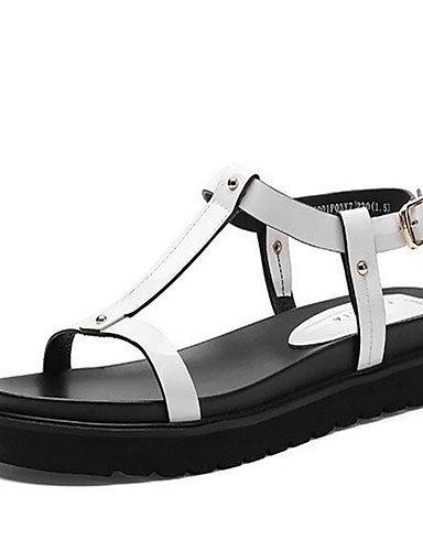 GGX/ Damenschuhe-High Heels-Lässig-PU-Blockabsatz-Absätze-Weiß white-us8 / eu39 / uk6 / cn39