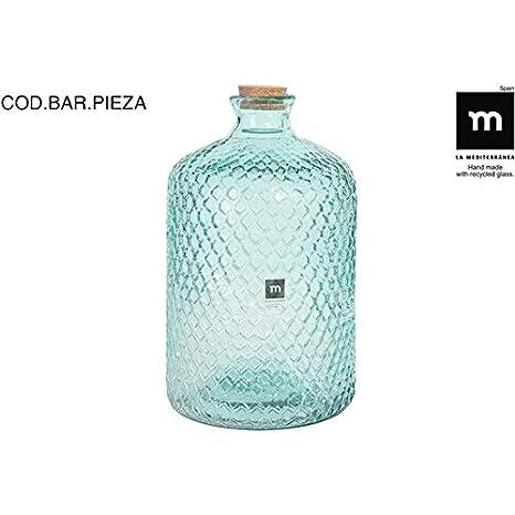 La Mediterranea - Botella Vidrio 5l c/tapón Primavera grabada: Amazon.es: Hogar