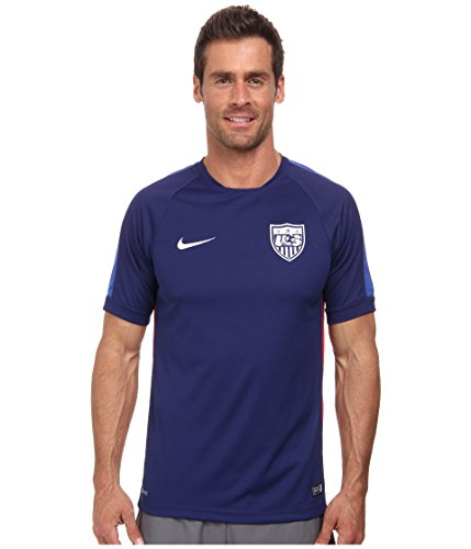 (Nike USA Mens Squadra Short Sleeve Training Top 2 Soccer Jersey (Blue) Small)
