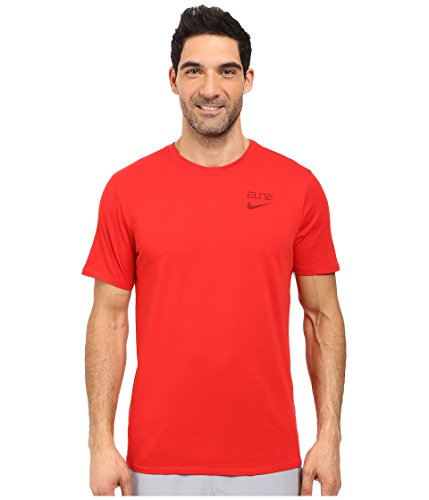 Nike Elite Back Stripe Basketball Men's Training T-shirt (L, 657 University Red/Team Red)