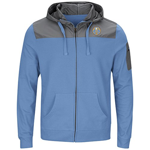 Denver Nuggets Zip Up Hoodie: Denver Nuggets Hooded Sweatshirt, Nuggets Hooded