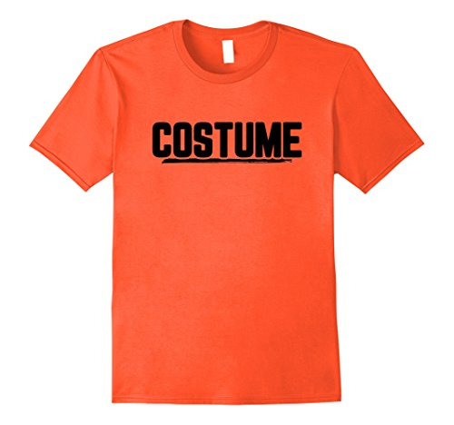 Mens Halloween T-Shirt That Says Costume Easiest Last Min Tee Large Orange