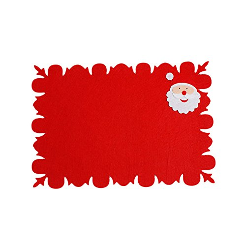 Christmas Placemat Christmas Theme Red Series Rectangular Placemats Waterproof Heat Resistant Table Mats for Holidays Kitchen Dining Table Decor 4630cm (B) ()