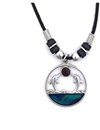 Tapp Collections™ Mood Pendant Necklace - Dolphin Twins