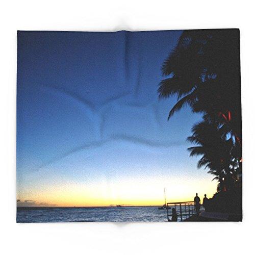 Society6 Hawaii Sunset Palm Tree Sea 88'' x 104'' Blanket by Society6