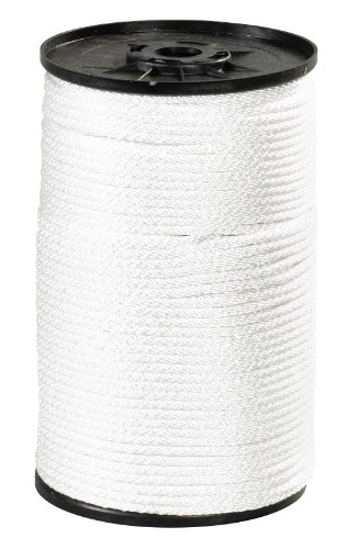 - Aviditi Nylon Solid Braided Rope, 500' x 1/4