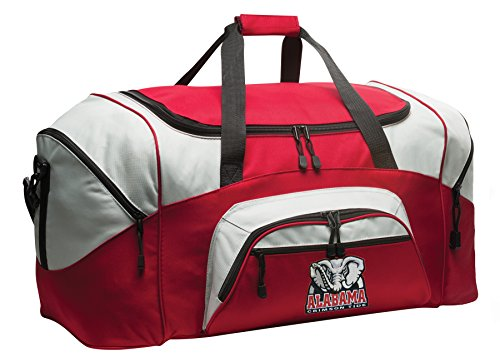 Large DELUXE University of Alabama Duffel Bag Alabama Gym Bag by Broad Bay