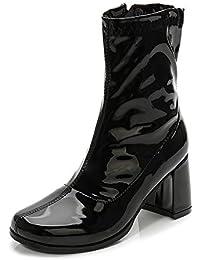 Womens Go Go Boots Over The Knee Block Heel Zipper Boot XZ-DX-1027