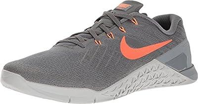NIKE Mens Metcon 3 Training Shoes Track Dark Grey/Hyper Crimson 852928-007 Size 13