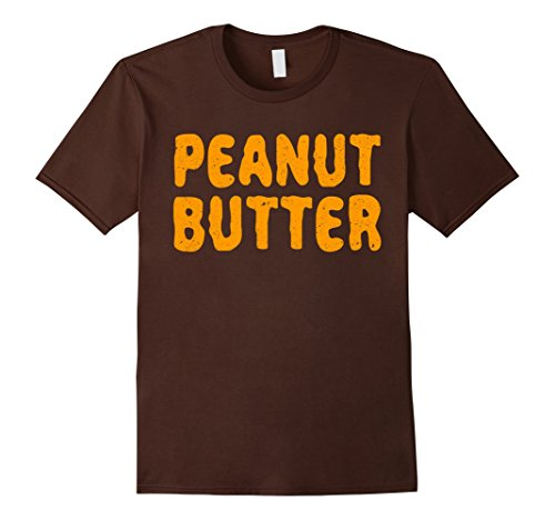 Mens Peanut Butter T-Shirt Matching Halloween Costume XL Brown (Cool Couple Halloween Costumes 2017)