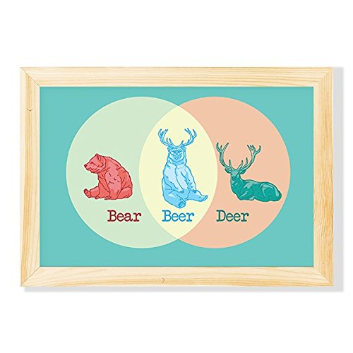 Pôster com Chassi Urso, Cervo