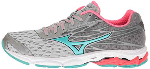 Mizuno Women's Wave Catalyst 2 Running Shoe, Grey/Mint, 9 B US by Mizuno (Image #5)