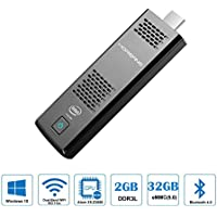 Windows 10 Desktop Computer Stick, MOREFINE Mini PC Compute Stick Intel Atom X5 Z8350 Cherry Trail T3 Quad Core 1.84GHz, HD Graphic HDMI TV USB Stick, Dual Wi-Fi Bluetooth, Boot Instantly (2GB+32GB)