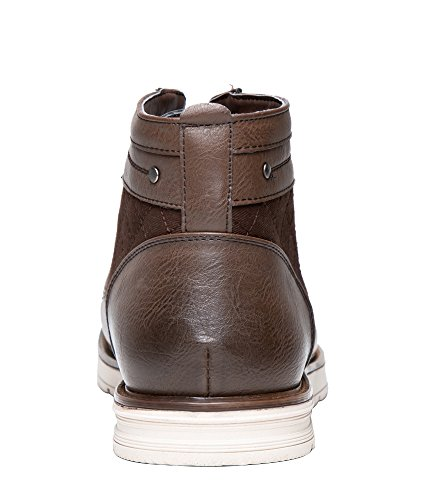 Shenbo Brand Lace Up Hombres Botas (11, Marrón)