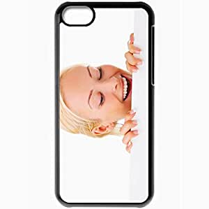 Personalized iPhone 5C Cell phone Case/Cover Skin Advertising Sheet Paper White Background Black by supermalls