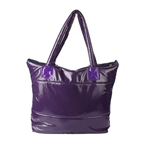 Feather Girl Purple Handbag Bag Down Sponge Shoulder Space Women Paymenow Feather Bale Cotton Bag Totes WvIz4q6