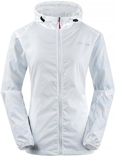 Wantdo Women's Outdoor Rain Windbreaker Sunproof Skin Sport Coat White US - Jacket Running Ultralight