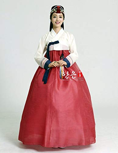 12ee8a2da Amazon.com: Women Hanbok Dress Custom Made Korean Traditional Hanbok Bride  Wedding Dress Korean National Costumes: Handmade