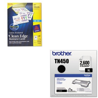 KITAVE8873BRTTN450 - Value Kit - Avery 2-Side Printable Clean Edge Business Cards (AVE8873) and Brother TN450 TN-450 High-Yield Toner (BRTTN450)