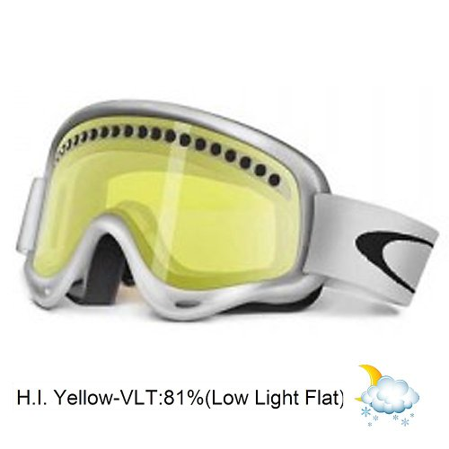 Oakley XS O-Frame Goggle – Kids' Matte White W/Hi Yellow, One Size, Outdoor Stuffs