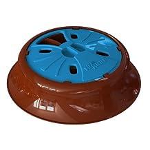 Aikiou Junior Slow Pet Feed Bowl, Brown/Blue