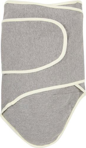 Miracle Blanket Swaddle, Grey with Yellow Trim