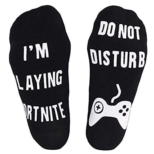Longyangqk Do Not Disturb I'm Gaming Lustige Knöchel-Baumwollsocken, Neuheits-Geschenk für die Spiel-Spieler-Liebhaber der Jugend-Kindermänner-Frauen