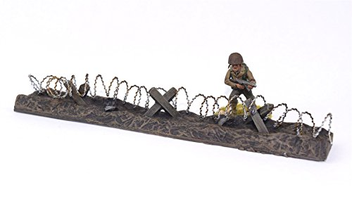 (WWG Barbed Wire Defensive Position Painted / Unpainted - 28mm Wargaming Terrain - Choose The Pack Size)
