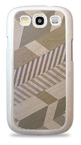 Diagonal Chevron ed Pattern White Hardshell Phone Case for Samsung Galaxy S3