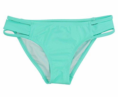 Victorias Secret. Pink Womens Triple Banded Bikini Bottom (X-Small, Seafoam Glow)