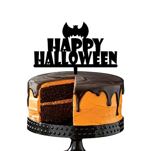 Scary Halloween Party Cake Decoration, Bat Birds Cake Toppers, Festival Party Favors Supplies -