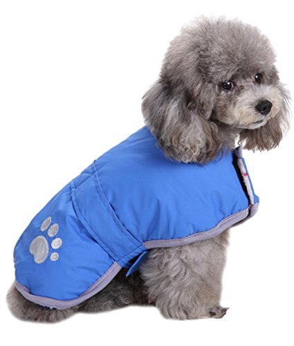 Fleece Waterproof Vest - Queenmore Cold Weather Dog Coats Loft Reversible Winter Fleece Dog Vest Waterproof Pet Jacket Available in Extra Small, Small, Medium, Large Extra Large Sizes