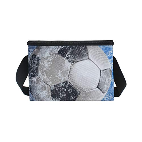 Lunch Picnic Strap Blue Water Shoulder Soccer Around Bag Ball Lunchbox Cooler Football for r4cUHrZ