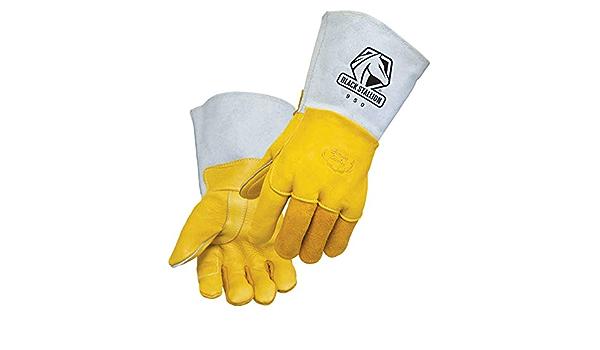 Black Stallion 950L Premium Lined Elkskin Stick Welding Gloves Large