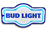 Bud Light LED Lighted Sign, 17'' Marquee Shape, LED Light Rope Designed To Give Look Of Neon, Wall Decor For Home, Bar, Garage, or Man Cave