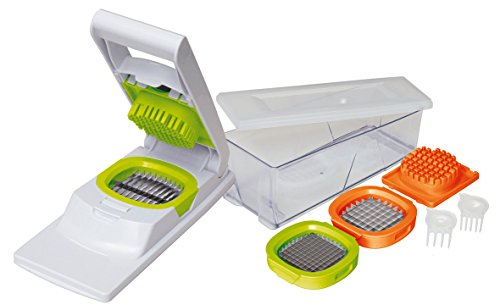 MOHA Croco Chips and Vegetable Chopper, White/Green/Orange, One Size