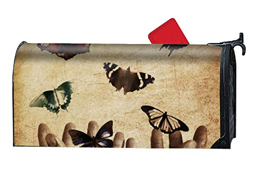 (jiajufushi Adult Art Artist Magnetic Mailbox Cover - Greetings Mailbox Wrap Illustration, Standard Sized- 21 x 9 Inches)