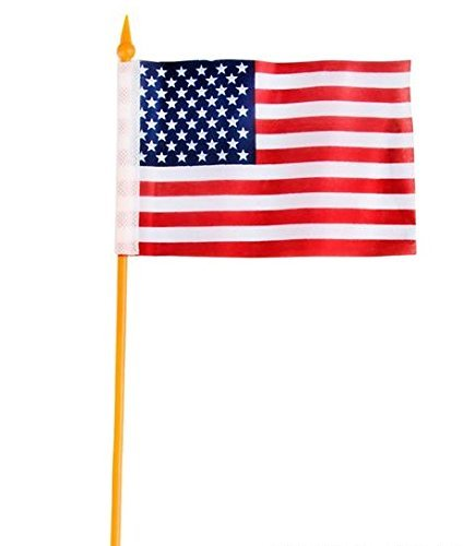 Small Fabric American Flags Stick