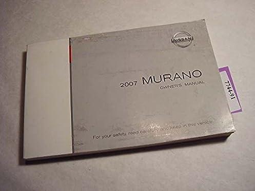 2007 nissan murano owners manual nissan amazon com books rh amazon com 2007 nissan murano owners manual download 2010 nissan murano owners manual
