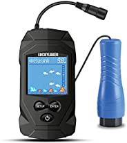 LUCKYLAKER Depth Ice Fish Finder Display Boat Ice Fishing Finder Sonar Portable Wired Fish Finders Transducer