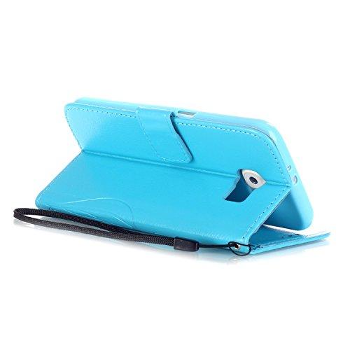 JAWSEU - Zapatillas de estar por casa para hombre Blume,Rot Samsung Galaxy S6 Blume,Blau
