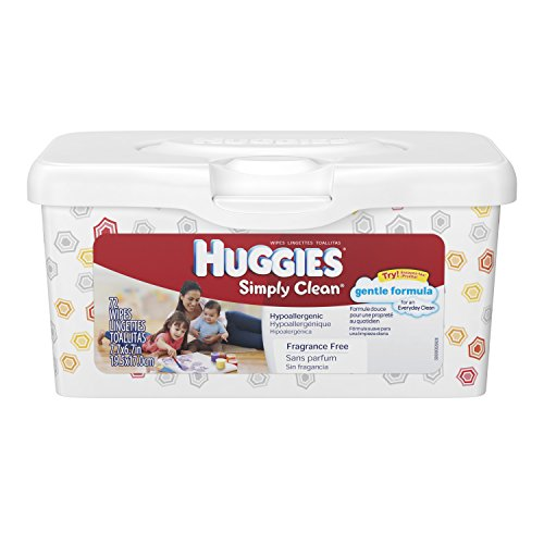 Huggies Simply Clean Baby Wipes, Pop-Up Tub, 72 ct