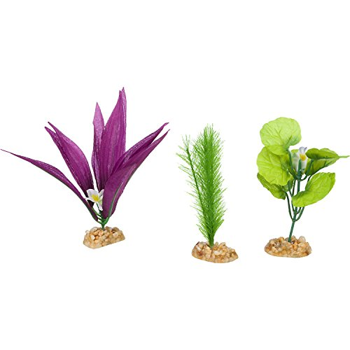 Imagitarium Foreground Multi-Pack Silk Aquarium Plants, Small/Medium, -