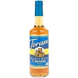 Torani Sugar-free Syrup, Classic Caramel, 25.4-ounce Bottle