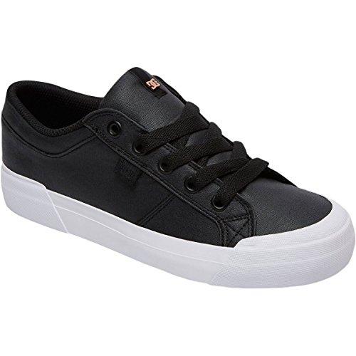 DC Women's Danni Tx Se Skate Shoe, Black/White, 7.5 B US