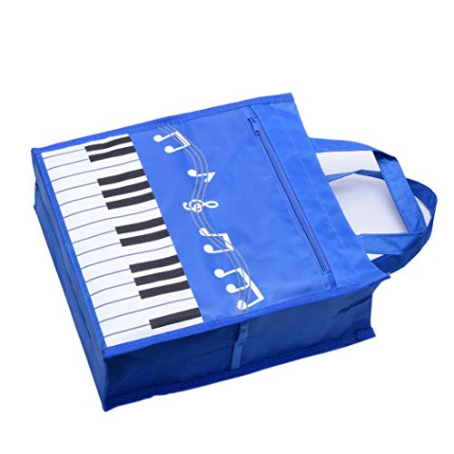 Piano Keys Handbag Reusable Grocery Bag Shoulder Shopping Bag Tote Bag for Music Teacher Girls Gift Bag (Piano Keys Handbag Blue)