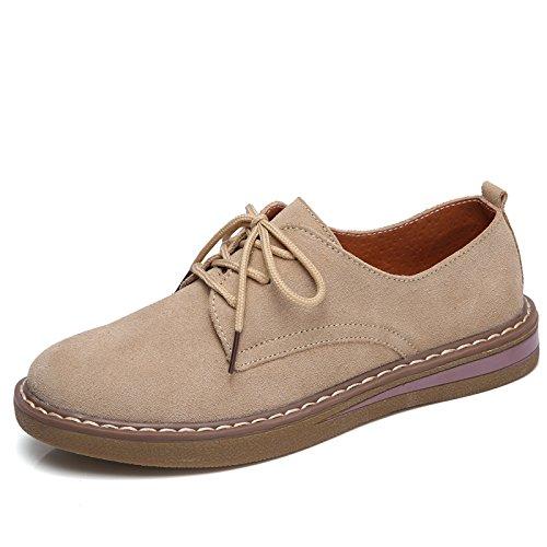 Reforzados para Planos brown Retro Femeninos Zapatos Zapatos Planos Únicos AIMENGA Nuevos Dama 1AqSgWB