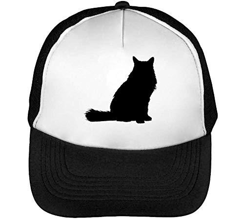 Gorras Negro Silhouette Beisbol Black Snapback Hombre Blanco Cat Hw8qFxpEF