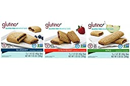 Glutino Breakfast Bars Variety Pack, 7.05 Ounce 3 count.